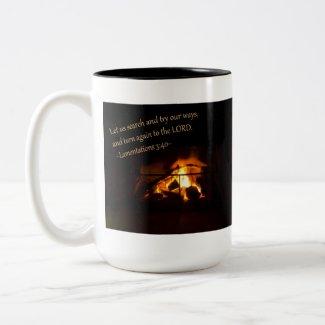 Lamentations 3:40 Mug