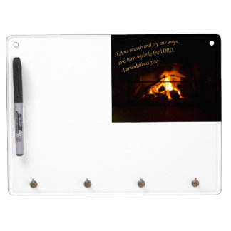 Lamentations 3:40 dry erase board with keychain holder