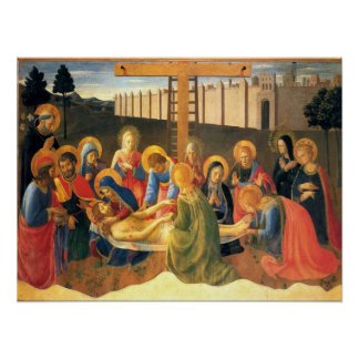 Lamentations Over Christ Fra Angelico Renaissance Poster
