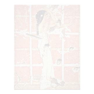 Lamenting The Dead Woman At The Shrine By Maler De Letterhead