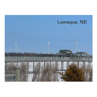 Lameque Wind Turbines Postcard