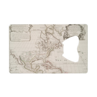 L'Amerique (1700) American Map Credit Card Bottle Opener