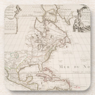 L'Amerique (1700) American Map Drink Coaster