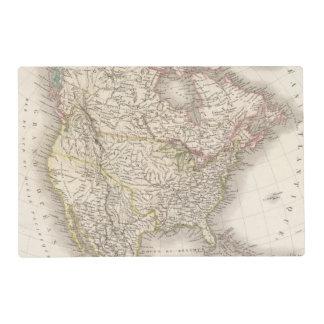 L'Amerique Septentrionale - North America Laminated Place Mat