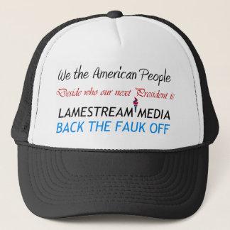 Lamestream Media back the  faulk off Hat