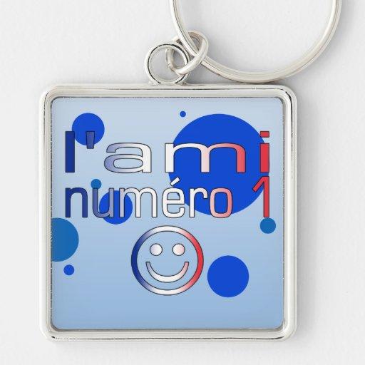 L'Ami Numéro 1 en los colores franceses de la band Llaveros Personalizados