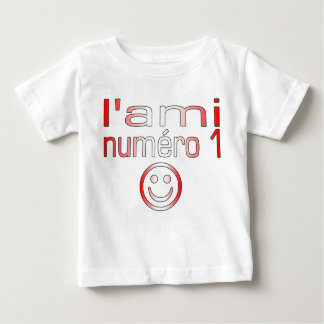 L'Ami Numéro 1 in Canadian Flag Colors for Boys Baby T-Shirt