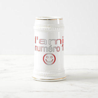 L'Ami Numéro 1 in Canadian Flag Colors for Boys Beer Stein