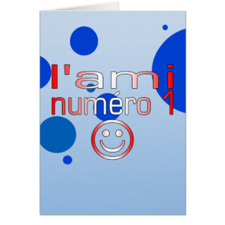 L'Ami Numéro 1 in Canadian Flag Colors for Boys Stationery Note Card