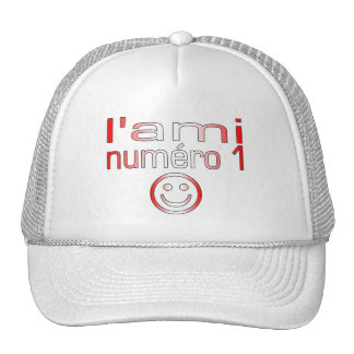 L'Ami Numéro 1 in Canadian Flag Colors for Boys Trucker Hat