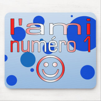 L'Ami Numéro 1 in Canadian Flag Colors for Boys Mouse Pad