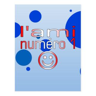 L'Ami Numéro 1 in Canadian Flag Colors for Boys Postcard