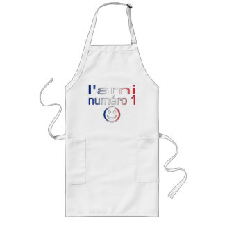L'Ami Numéro 1 in French Flag Colors for Boys Long Apron
