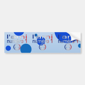L'Ami Numéro 1 in French Flag Colors for Boys Bumper Sticker
