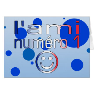 L'Ami Numéro 1 in French Flag Colors for Boys Greeting Card