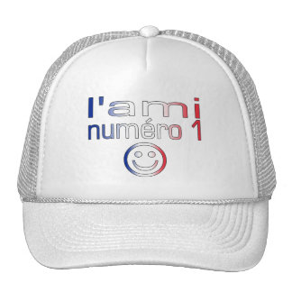 L'Ami Numéro 1 in French Flag Colors for Boys Trucker Hat