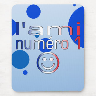 L'Ami Numéro 1 in French Flag Colors for Boys Mouse Pad