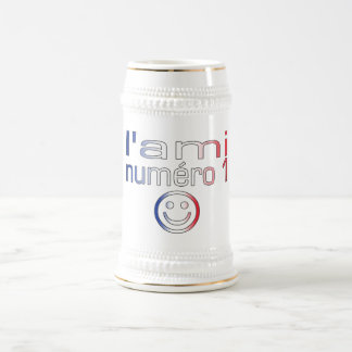 L'Ami Numéro 1 in French Flag Colors for Boys Mugs