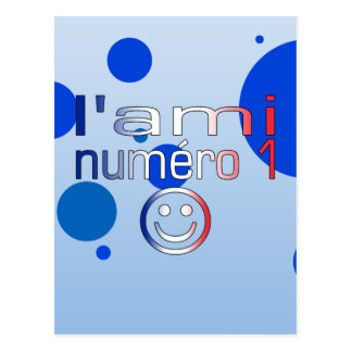 L'Ami Numéro 1 in French Flag Colors for Boys Postcard