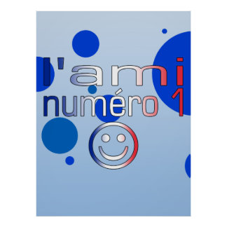 L'Ami Numéro 1 in French Flag Colors for Boys Poster