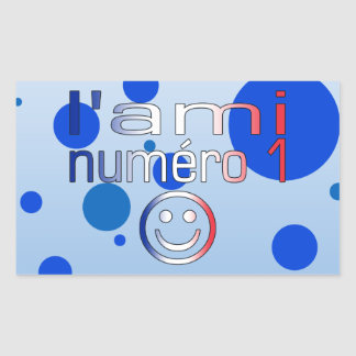 L'Ami Numéro 1 in French Flag Colors for Boys Rectangular Sticker