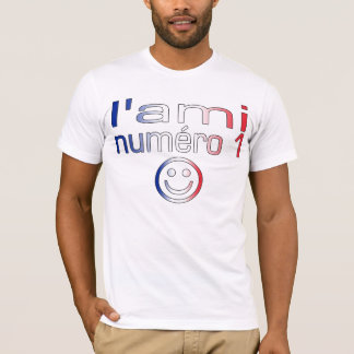 L'Ami Numéro 1 in French Flag Colors for Boys T-Shirt