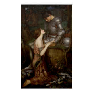 Lamia and the Soldier by JW Waterhouse Print