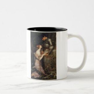 Lamia and the Soldier - John William Waterhouse Two-Tone Coffee Mug