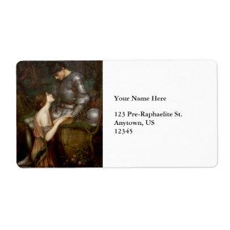 Lamia by John William Waterhouse Label