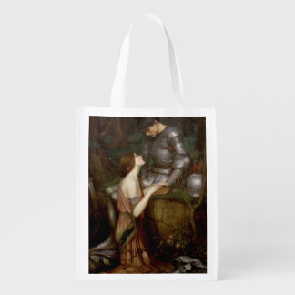 Lamia by John William Waterhouse Reusable Grocery Bags