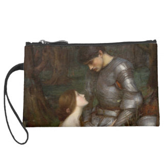Lamia by John William Waterhouse Suede Wristlet Wallet