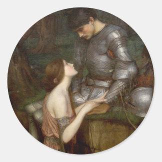Lamia de John William Waterhouse Pegatina Redonda