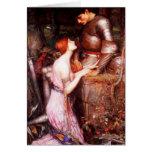 Lamia del Waterhouse y la tarjeta de nota del sold