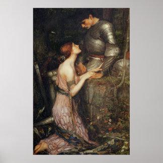 Lamia y el soldado - John William Waterhouse Póster