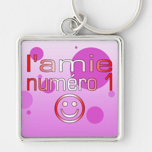 L'Amie Numéro 1 en los colores canadienses de la b Llavero Personalizado