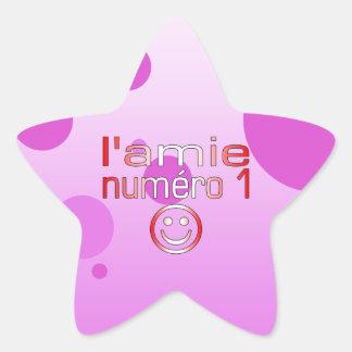L'Amie Numéro 1 en los colores canadienses de la b Colcomanias Forma De Estrellas