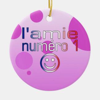 L'Amie Numéro 1 en los colores franceses de la ban Adorno De Navidad