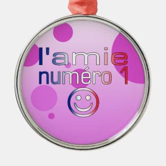 L'Amie Numéro 1 en los colores franceses de la ban Ornamentos De Navidad