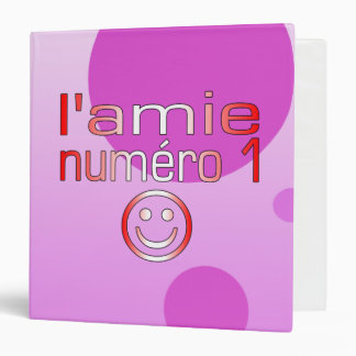 L'Amie Numéro 1 in Canadian Flag Colors for Girls Binder