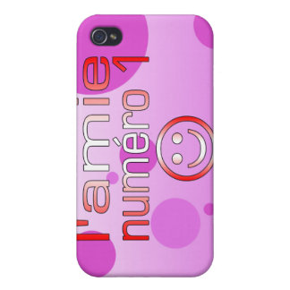 L'Amie Numéro 1 in Canadian Flag Colors for Girls iPhone 4 Cases