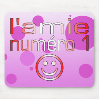 L'Amie Numéro 1 in Canadian Flag Colors for Girls Mouse Pad