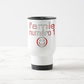 L'Amie Numéro 1 in Canadian Flag Colors for Girls Coffee Mug