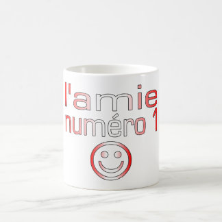 L'Amie Numéro 1 in Canadian Flag Colors for Girls Mug