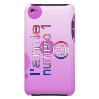 L'Amie Numéro 1 in French Flag Colors for Girls iPod Case-Mate Cases