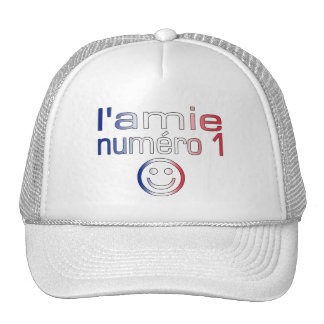 L'Amie Numéro 1 in French Flag Colors for Girls Trucker Hat