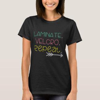 Lamina. Velcro. Repetición. Camiseta