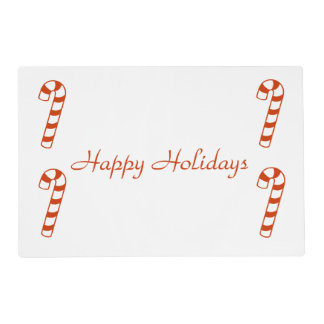 Laminate Placemat - Candy Canes