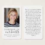 Laminated Forever in Our Hearts Memorial Card