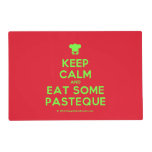 [Chef hat] keep calm and eat some pasteque  Laminated Placemat