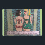 """LAMINATED PLACEMAT-OUR HEADS SAY GO TO THE GYM PLACEMAT<br><div class=""""desc"""">OUR HEARTS SAY DRINK MORE WINE.</div>"""